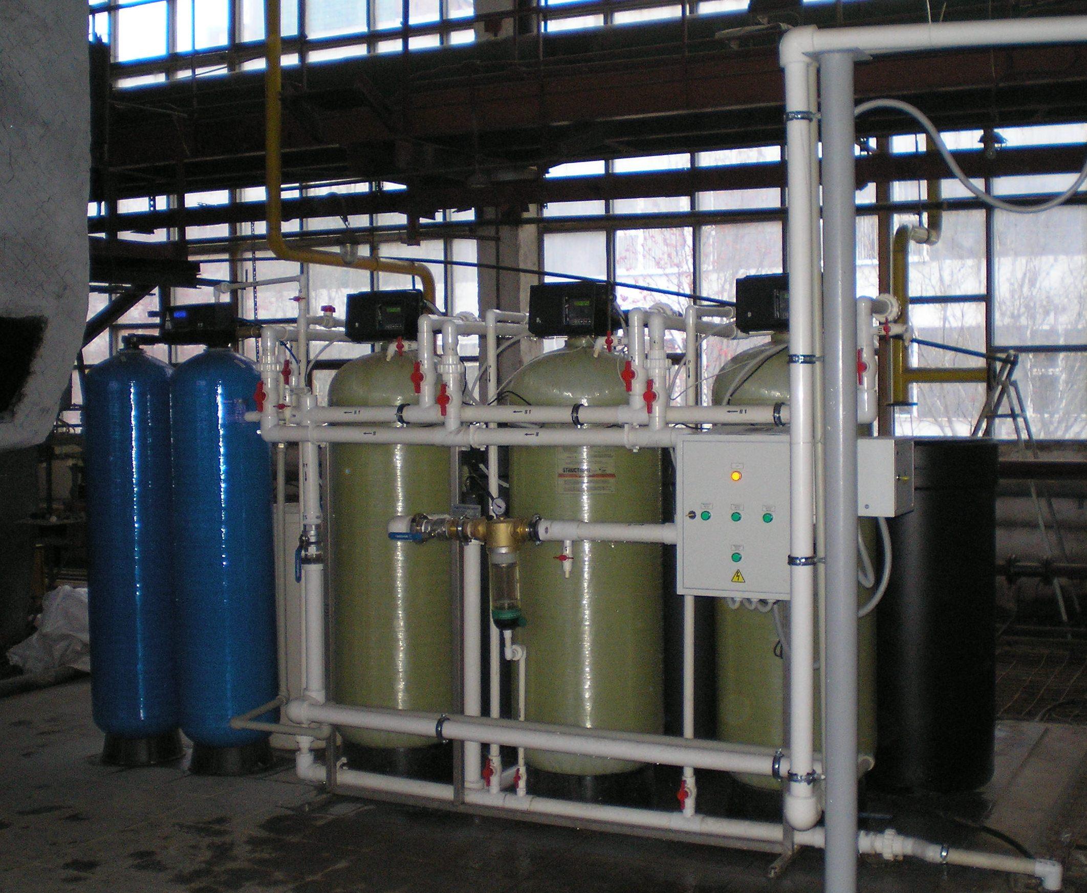 Установка водоочистной системы для скважины