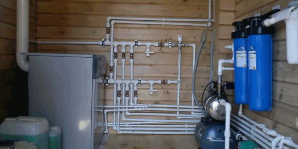 монтаж системы водоснабжения в Ковернинском районе