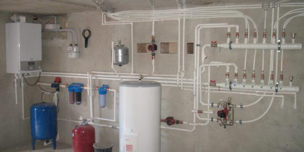 Монтаж отопления коттеджа в Сергаче