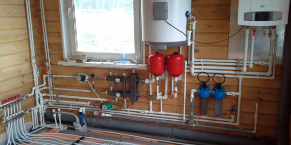 монтаж отопления и котлов в Шаранге
